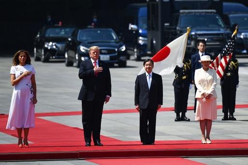 トランプ大統領、皇居で天皇陛下と会見