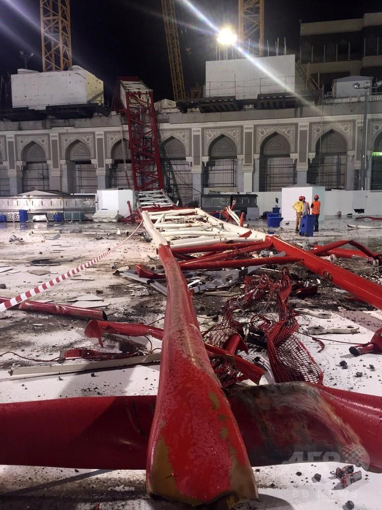 メッカの聖モスクでクレーン倒壊、107人死亡