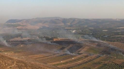 動画:イスラエル軍、レバノンに砲撃 ミサイル発射受け反撃