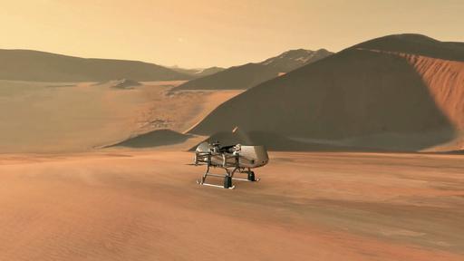 ドローン型探査機で土星の衛星調査へ、生命の起源探る NASA