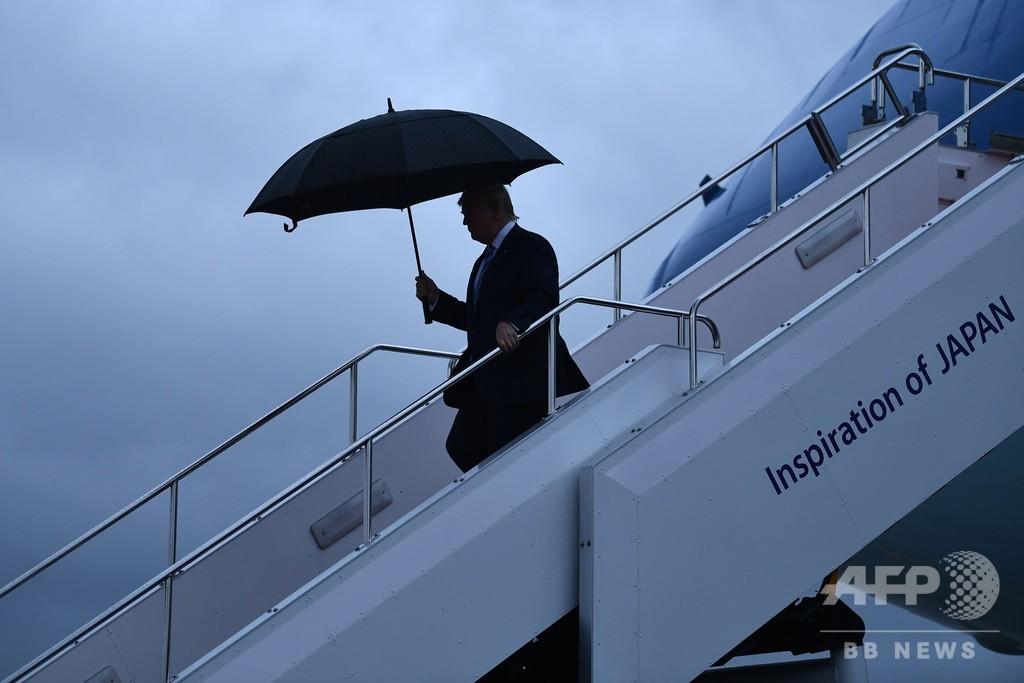 トランプ米大統領、大阪に到着 G20出席へ
