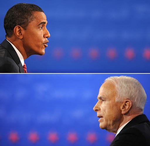 <08年米大統領選挙>マケイン、オバマ両候補 最後の討論会もオバマ氏優勢