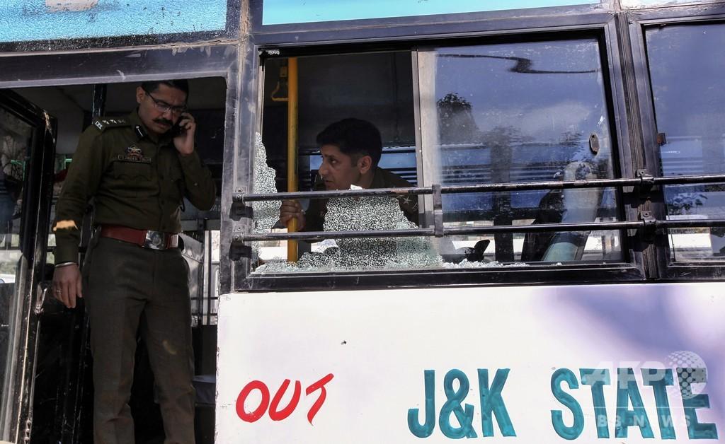 印カシミールのバスターミナルで手りゅう弾爆発、18人負傷