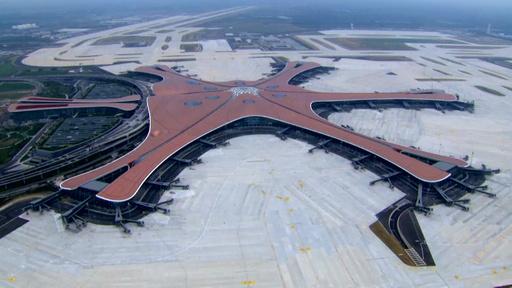 動画:中国・北京の新空港がオープン 年間最大の乗降客数1億人見込む