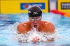 小関が100m平泳ぎで金メダル、パンパシ水泳