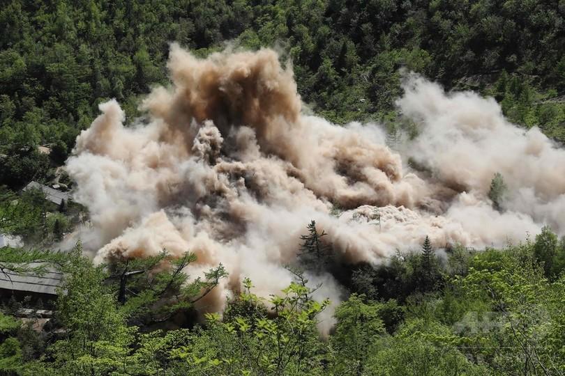 カメラが捉えた北朝鮮核実験場の廃棄