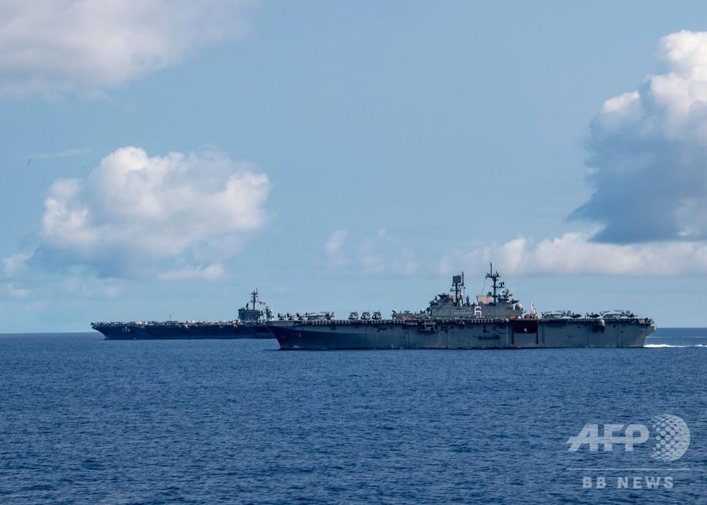 新型コロナ流行の米空母、2700人を下船へ