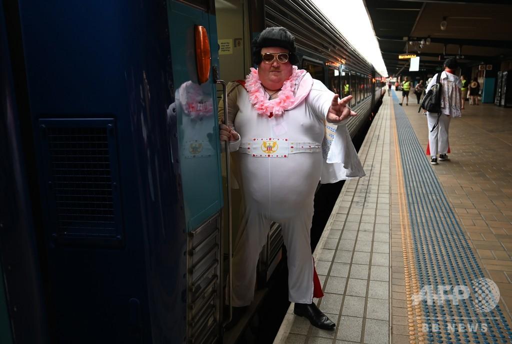 【今日の1枚】「なりきりエルビス」 列車の旅