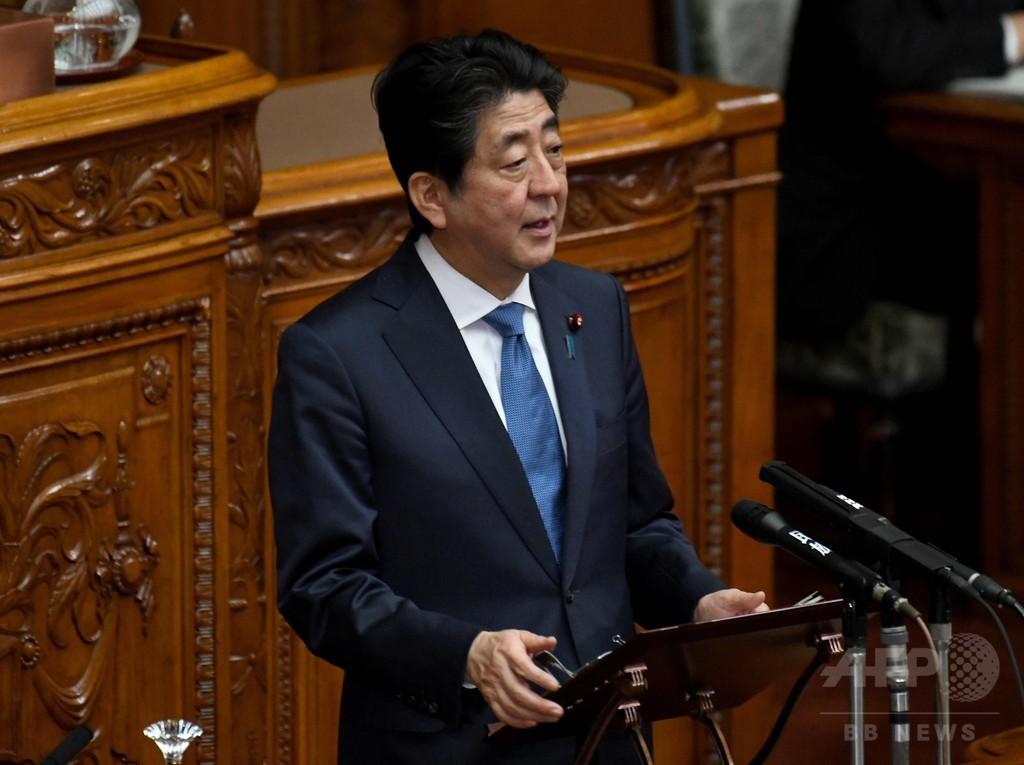 米朝首脳会談実施を評価、安倍首相