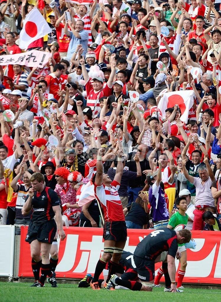 日本がウェールズに歴史的初勝利、ラグビー国際親善試合