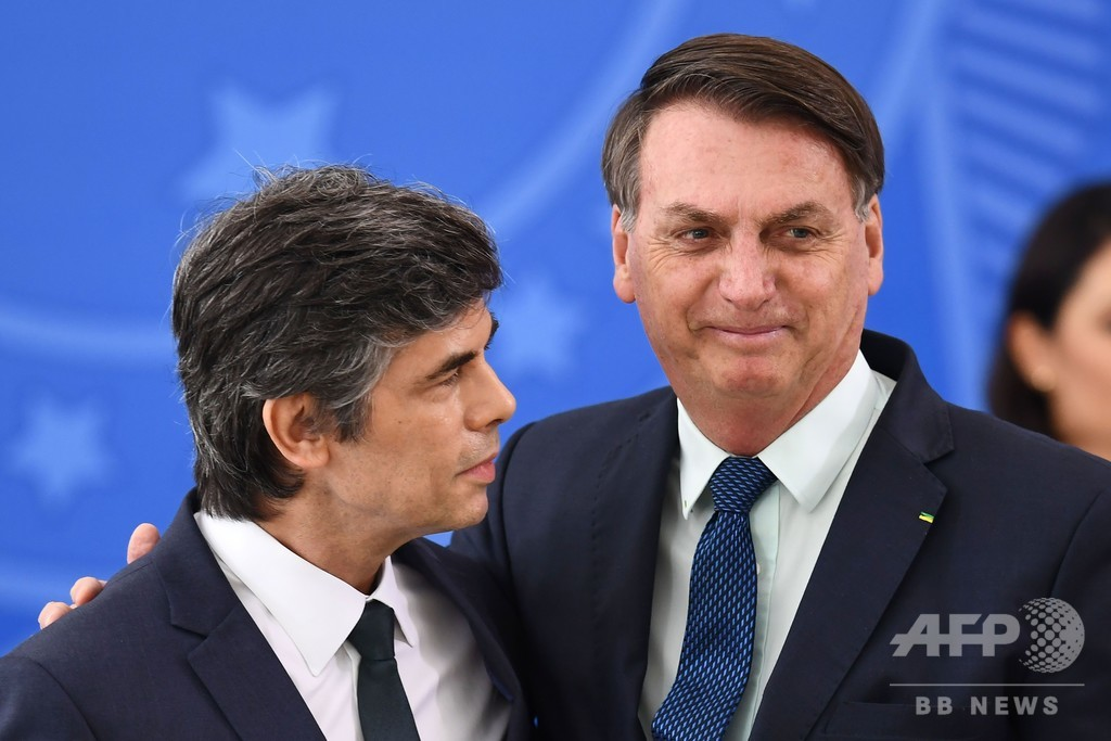 ブラジル保健相が辞任、コロナ対策で大統領と対立 就任から数週間