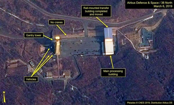 北ミサイル施設、再び「稼働可能」に 衛星画像が示唆