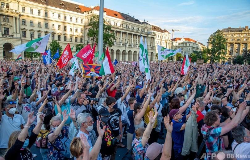 中国大学建設に「ノー!」 1万人が抗議 ハンガリー