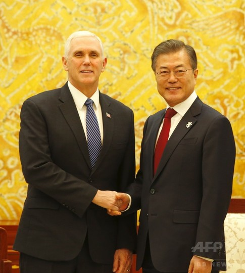 ペンス米副大統領、平昌五輪開会式前の夕食会に出席見合わせ
