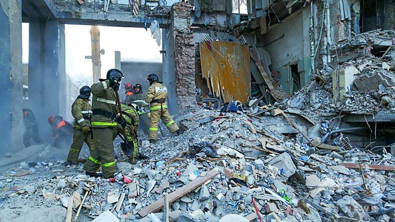 ロシアのビル爆発事故、死者39人に 捜索活動終了