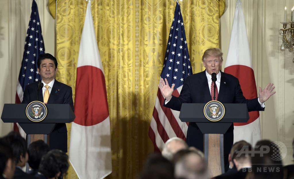 日米首脳会談、安保・貿易での関係強化で一致