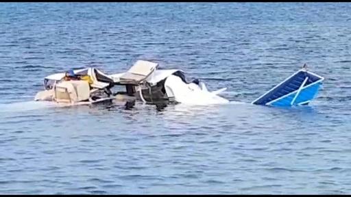 動画:中米ホンジュラスで小型機墜落、5人全員死亡 現場の映像