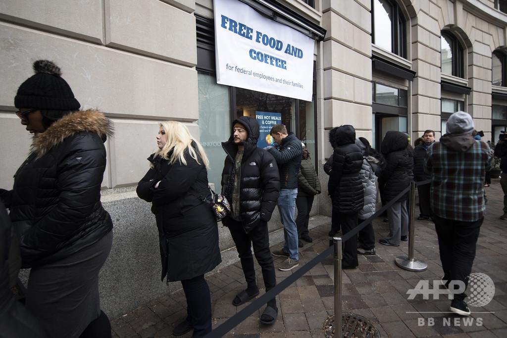 米政府閉鎖が4週目、影響は全米に 炊き出しや就職説明会も