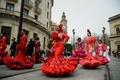 コロナ禍での窮状訴えデモ行進、フラメンコ衣装業界
