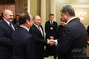 ウクライナ停戦で合意 武器を撤退へ 4か国首脳会談