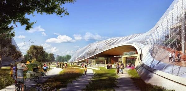 米グーグルが本社改築案、自然と融合の未来型
