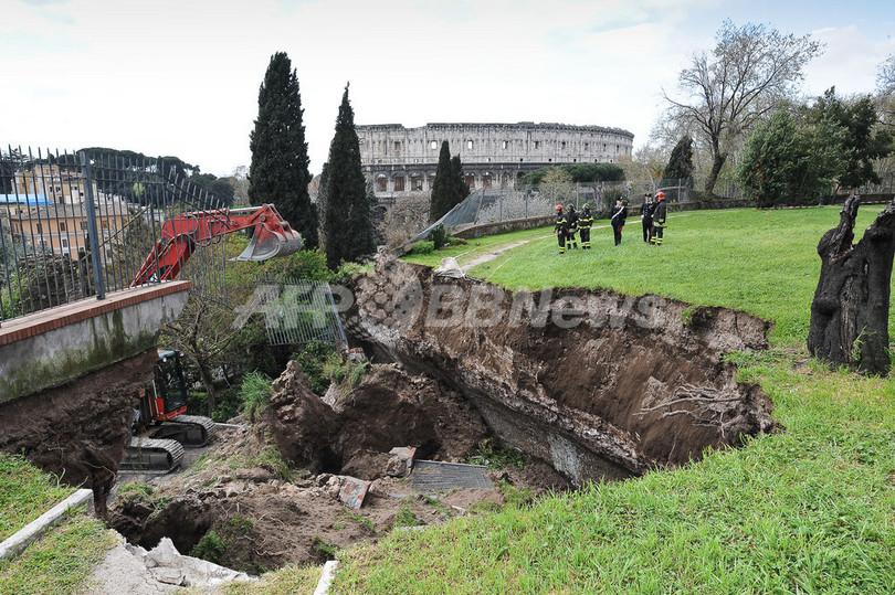 ローマの「ネロ皇帝の黄金宮殿」、地下遺構の天井が崩落