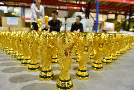偽W杯トロフィー1020点を押収、中国
