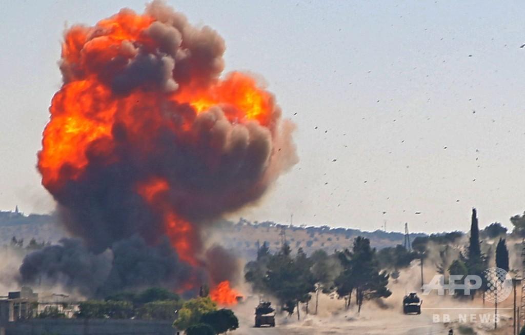 シリアで爆発、合同パトロール中のロシア・トルコ兵数人負傷