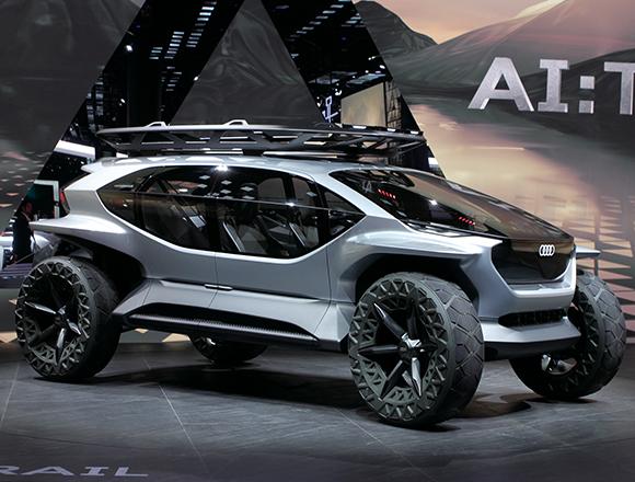 """アウディのEVコンセプト・モデル""""AI""""ファミリーがそろい踏み! 4作目はまるで月面探査車!? /フランクフルト・モーターショー2019♯2"""