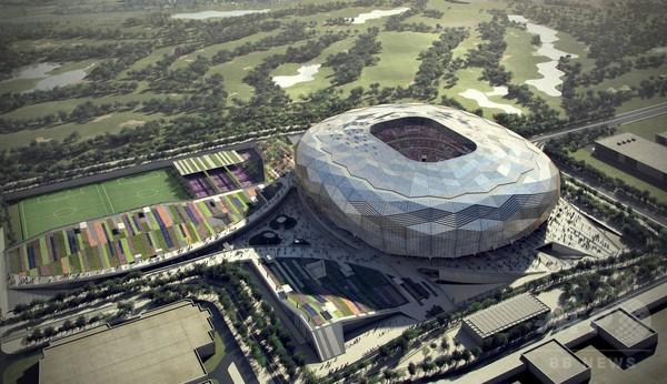カタールW杯、スタジアム建設現場から3000万年前の岩石