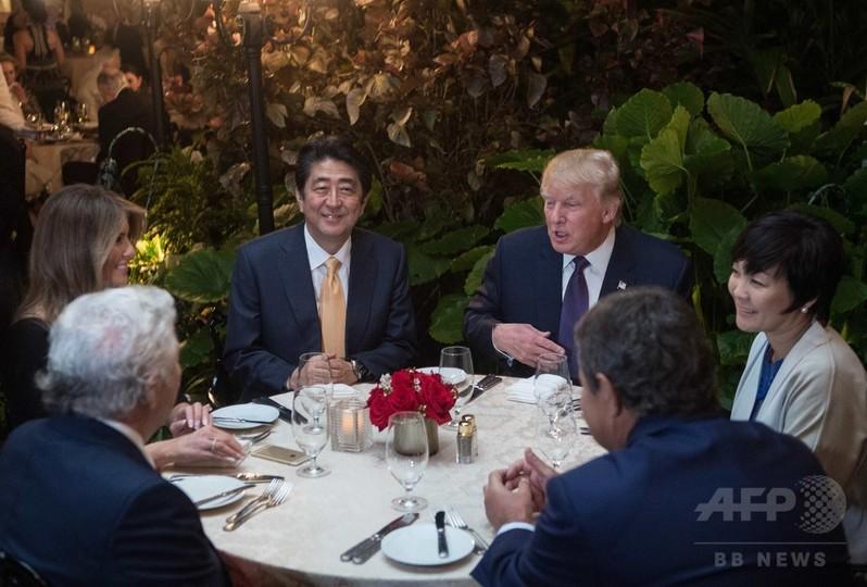 安倍首相夫妻、トランプ大統領のリゾート施設に招かれ食事会