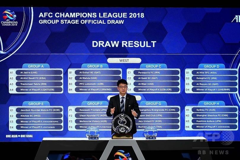 来季ACLの組み合わせが決定、鹿島は上海申花と同組に