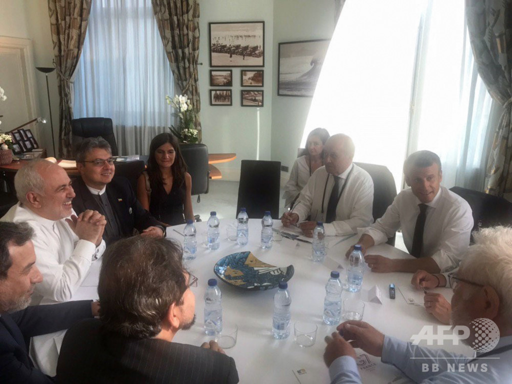 イラン外相、G7サミット開催地を電撃訪問