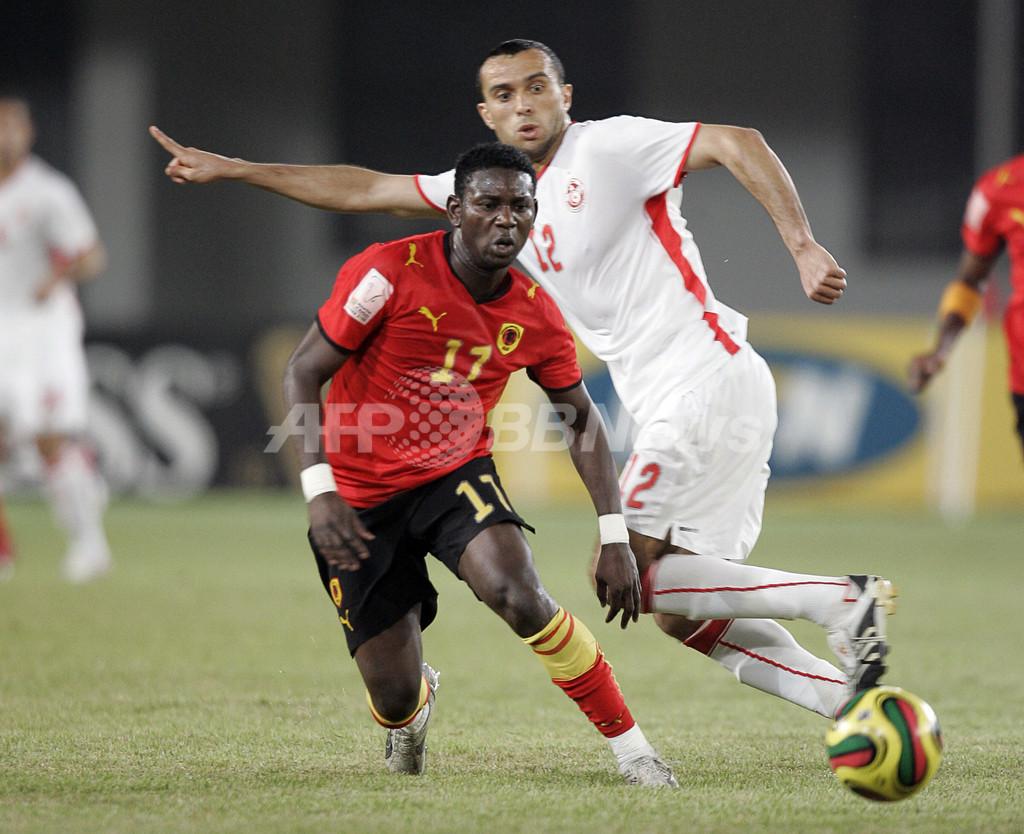 チュニジアとアンゴラ スコアレスドローで共に準々決勝進出