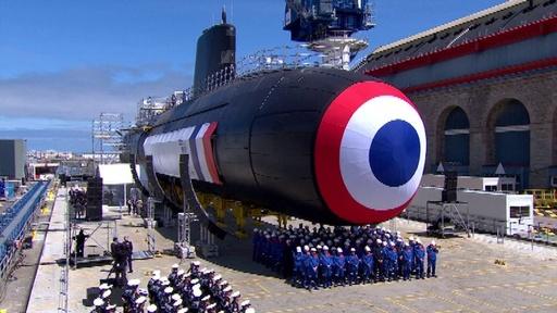 動画:フランスの次期攻撃型原子力潜水艦、北部シェルブールで竣工式
