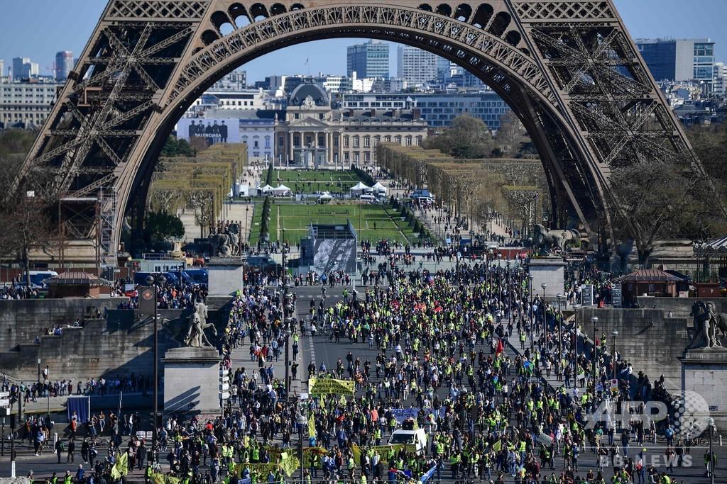 黄ベスト20週目、仏各地で名所や市中心が封鎖もデモ決行