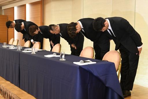 追放処分のバスケ代表4選手が謝罪、アジア大会現地で買春行為