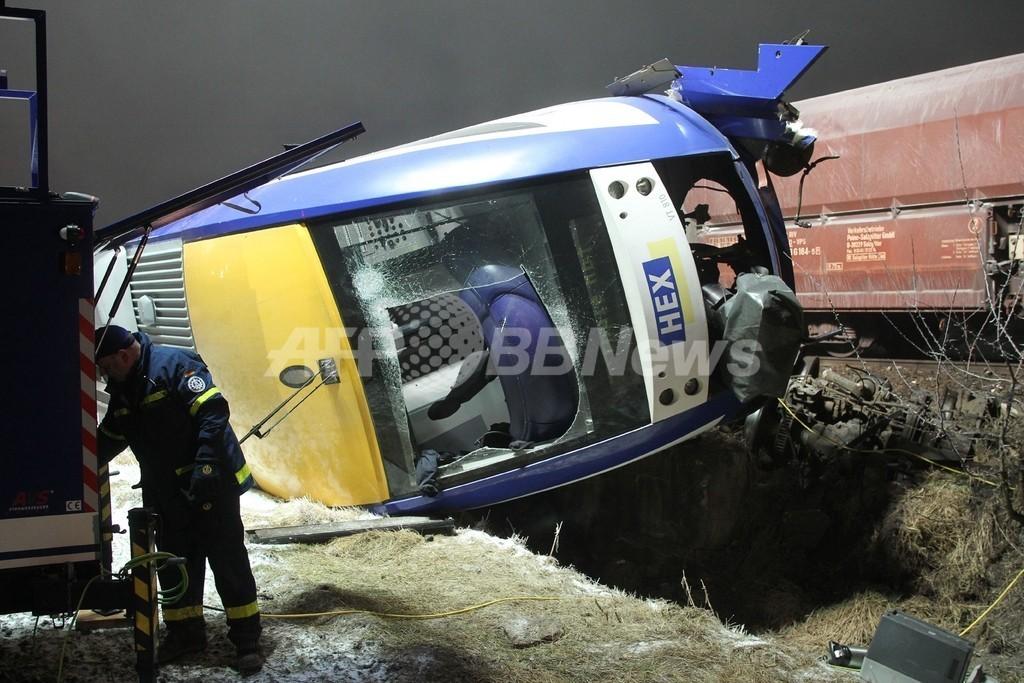 ドイツで旅客列車と貨物列車が衝突、10人死亡