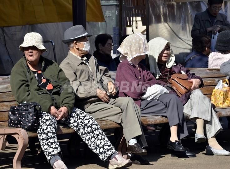 日本の人口、50年後には3割減