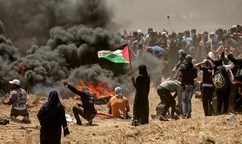 ガザ抗議では「誰も射殺を免れないように見える」、国連報道官が指摘