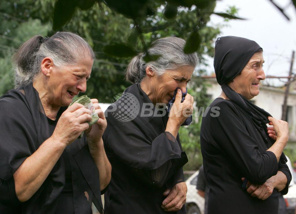グルジア紛争、アブハジア共和国分離独立派兵士の葬儀