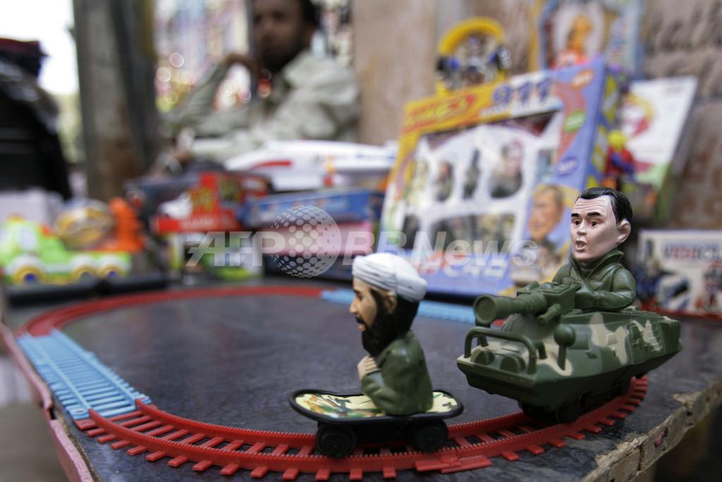 インドで話題のおもちゃ「ブッシュ&ビンラディン」汽車セット