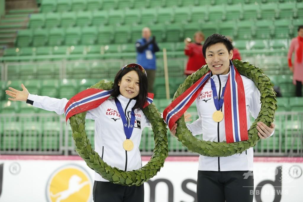 高木美帆、新濱立也がスプリント優勝 スピードスケート世界選手権
