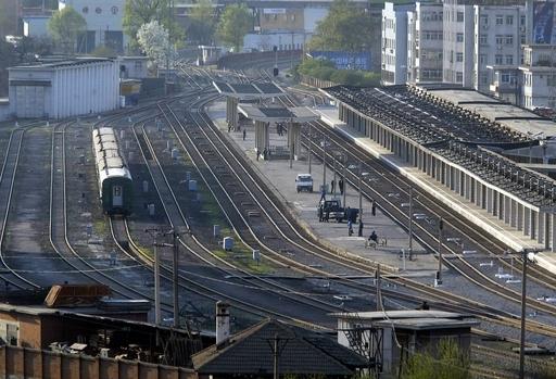 金総書記、中国入りか 特別列車が到着