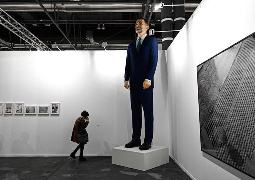 「燃やすこと」が購入の条件、フェリペ6世の巨大像が物議 スペイン