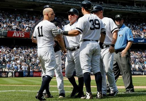 ヤンキースにまた退場者、判定に抗議した監督ら3人