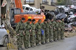 【写真特集】震災被災地で活動する自衛隊員ら