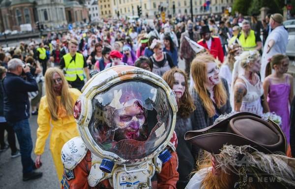 宇宙飛行士や舞妓さんも、スウェーデンで「ゾンビウォーク」