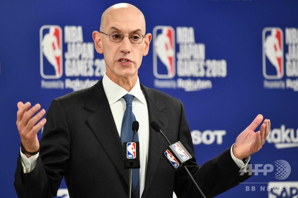 中国との関係悪化で「かなり」損失、NBAトップがツイート騒動の影響に言及