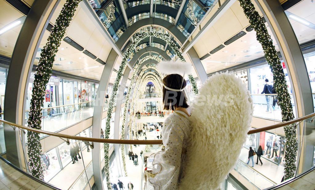 天使が舞い降りたショッピングモール、独ハンブルク